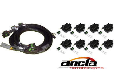 V8 GM/Chrysler Hemi Small/Big Block 8 x Individual High Output IGN-1A Inductive Coil and Harness Kit