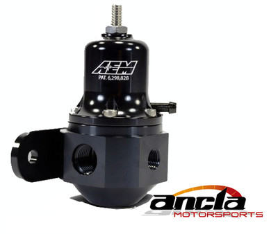 High Cap Universal Adjustable Fuel Pressure Regulator.Black